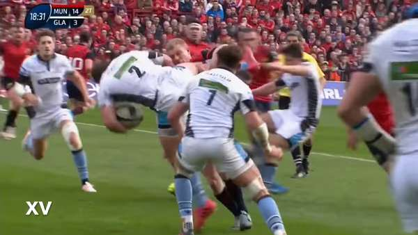 Keith Earls, tackle y expulsión