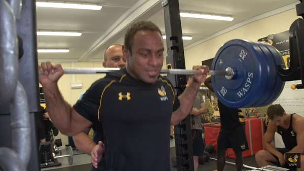 Los backs de Wasps, al gimnasio
