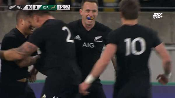 Aaron Smith y el 7° mejor try de los All Blacks en 2018