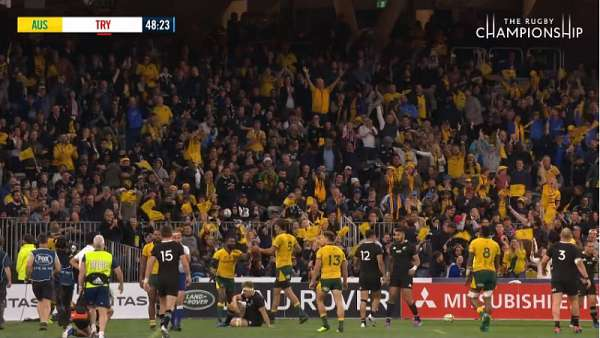 "El ""Try Of the Week"" fue para los Wallabies"